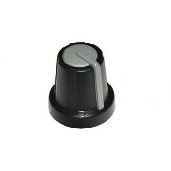 Knop Zwart met Grijs Dop 13mm