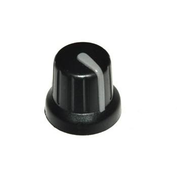 Knop Zwart Grijze Pijl 12mm