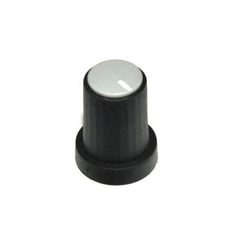 Knop Zwart Grijze Dop 11mm