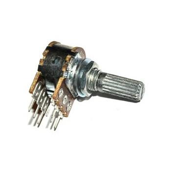 Potmeter Stereo Lin 100 kΩ