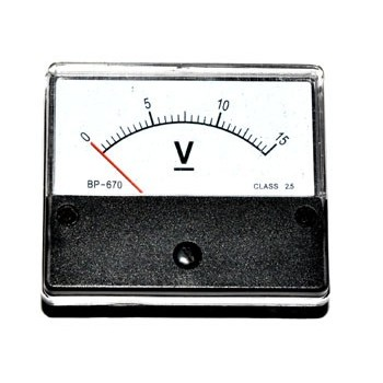 Paneelmeter Analoog 15A AC