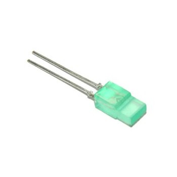 Platte LED Groen 2 x 5mm