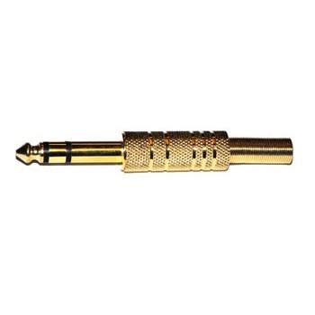 Jack 6,3mm Plug Stereo Verguld