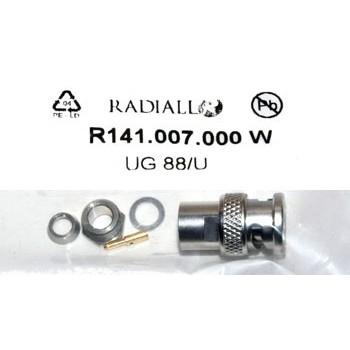 BNC Plug 50Ω Klem Radiall 6