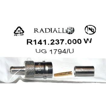 BNC Plug 50Ω Krimp Contra Radiall 8