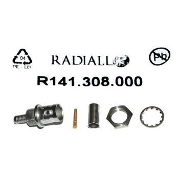 BNC Chassisdeel 50Ω (mil) Krimp Radiall