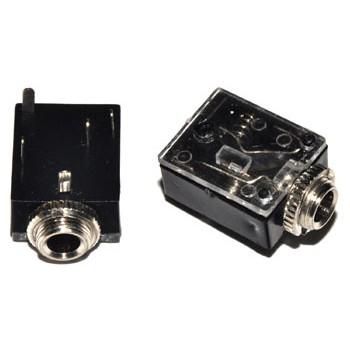 Jack 3,5mm Chassisdeel Stereo +2x Schak.