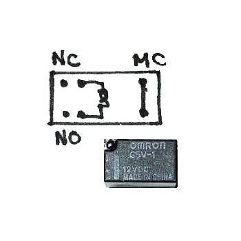 Mini Relais 1x wissel (12V)