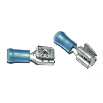 Vlaksteker 6,3-0,8mm 2 Weg Blauw