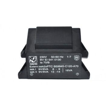 Trafo 16W 2x 9V 0,89A