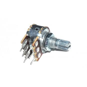 Potmeter Stereo Lin 10 kΩ