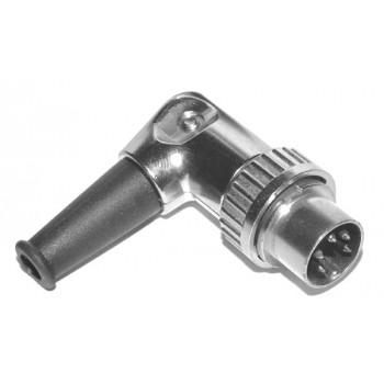 DIN Bajonet 5 polig 240° Male Plug Haaks