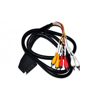 Scart male naar Tulp Adapter Kabel 1,5mtr