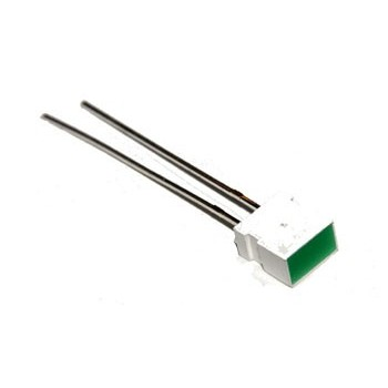 Platte LED Groen 3,7 x 6,2mm