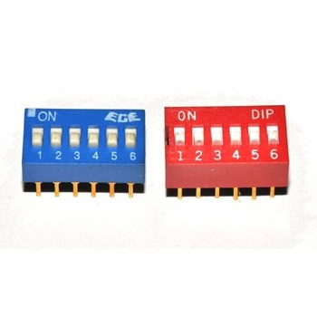 DIP switch 6 polig