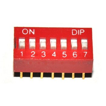 DIP switch 7 polig