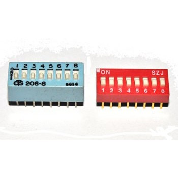 DIP switch 8 polig