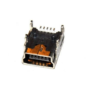 USB AB Mini Chassisdeel SMD