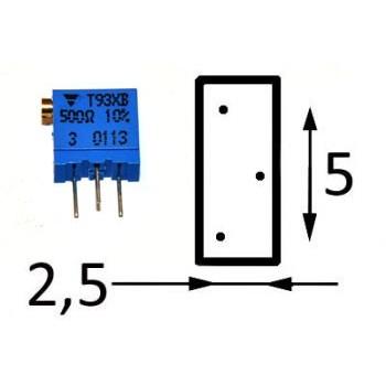 25 Slag Vierkant XB 500 kΩ