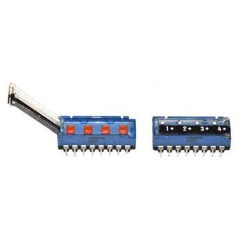 DIP switch 4 polig 4x Wissel