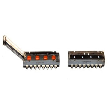DIP switch 4 polig 4x 2x Maak