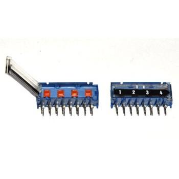 DIP switch 4 polig 4x Wissel Haaks