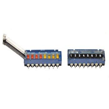 DIP switch 8 polig met Deksel
