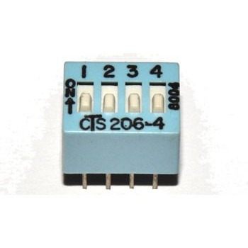 DIP switch 4 polig