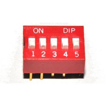 DIP switch 5 polig