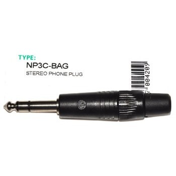 Jack 6,3mm Plug Stereo Neutrik