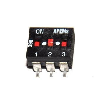 DIP switch 3 polig SMD