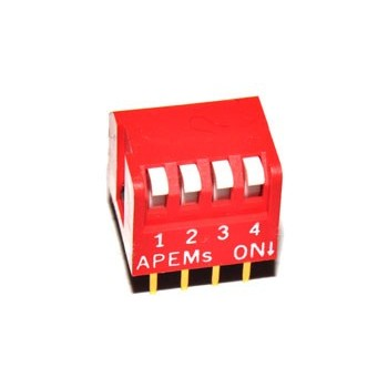 DIP switch 4 polig Haaks