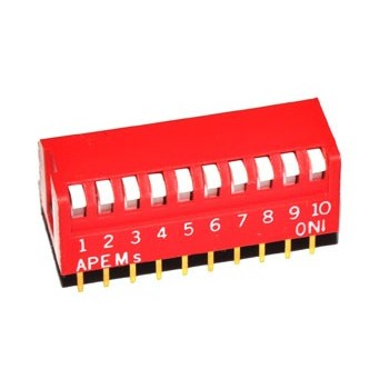 DIP Switch 10 polig Haaks