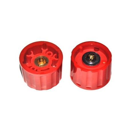 Spantang 28mm Knop Rood Glanzend