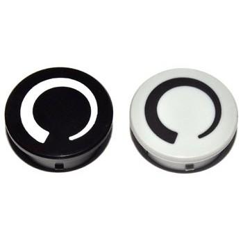 Spantang 21mm Dop Zwart Glanzend +Cirkel