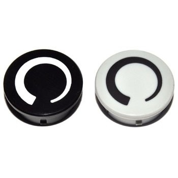 Spantang 21mm Dop Grijs Glanzend +Cirkel