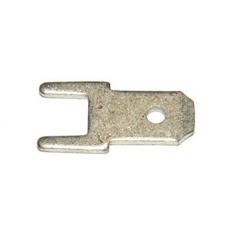 Vlaksteker 4,8-0,8mm Printconnector Recht
