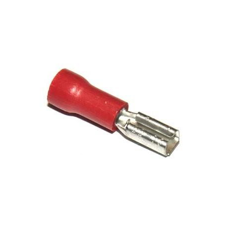 Vlaksteker 2,8-0,8mm Female Rood