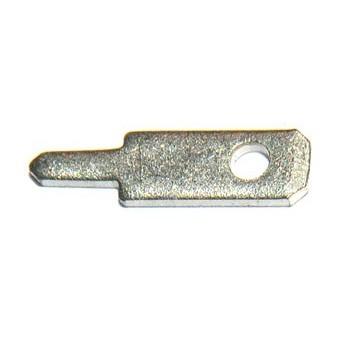 Vlaksteker 2,8-0,8mm Printconnector Recht