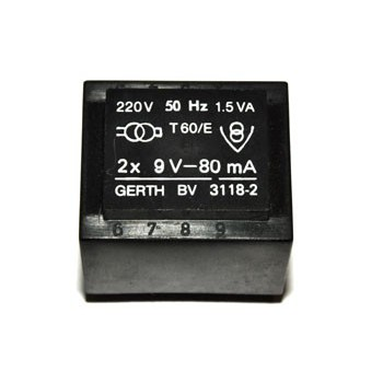 Trafo 1,5W 2x 9V 83mA