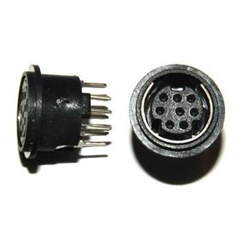 Mini DIN printbus 8 polig Rond