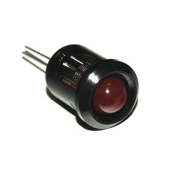 8mm LED-huis Zwart Plastic