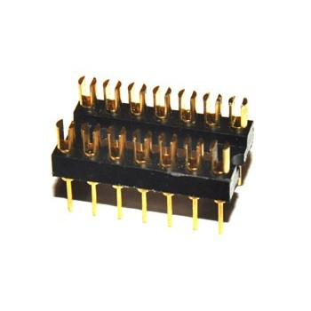 DIL Connector 14 pin Verguld