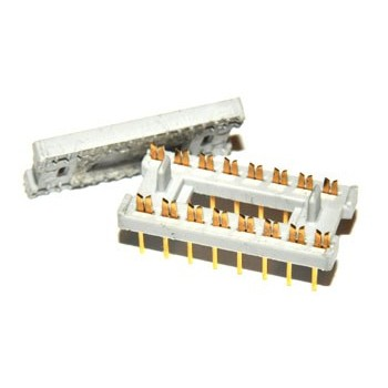 DIL Connector 16 pin Verguld