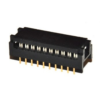 DIL Connector 20 pin Verguld