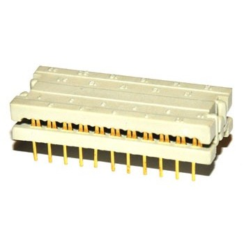 DIL Connector 22 pin Verguld