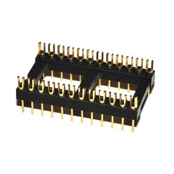 DIL Connector 24 pin Verguld