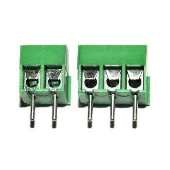 Printkroonsteen raster 3,5mm 2 polig Groen