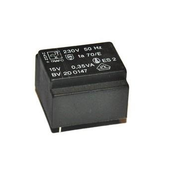 Trafo 0,35W 2x 15V 11,7mA