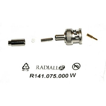 BNC Plug 50Ω Krimp Radiall 1